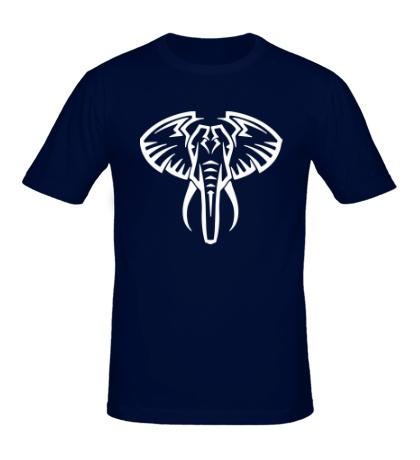 Мужская футболка Слон тату