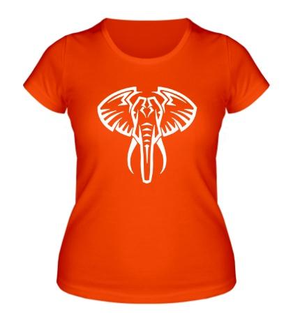 Женская футболка Слон тату