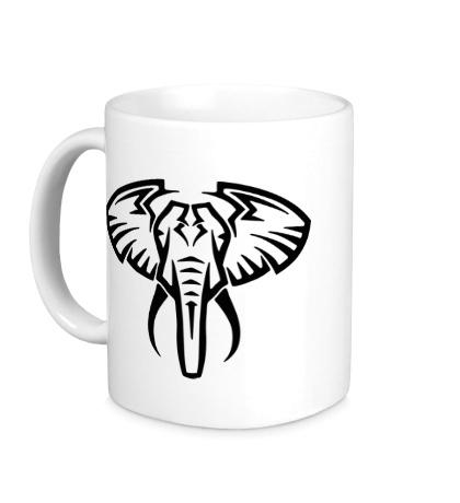 Керамическая кружка Слон тату