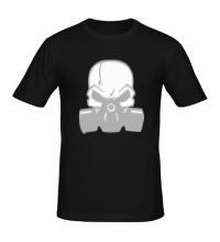 Мужская футболка Череп в противогазе