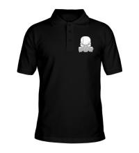 Рубашка поло Череп в противогазе