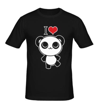 Мужская футболка Я люблю панд
