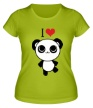 Женская футболка «Я люблю панд» - Фото 1