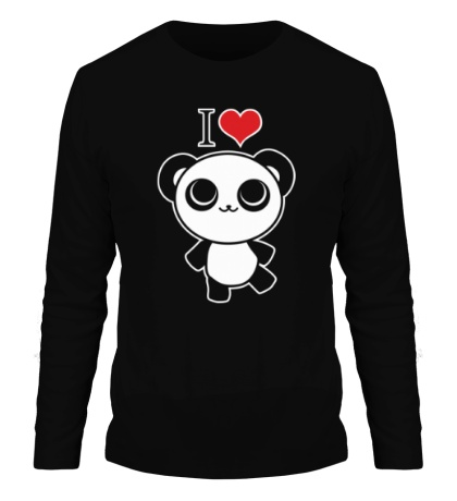 Мужской лонгслив Я люблю панд