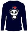 Мужской лонгслив «Я люблю панд» - Фото 1