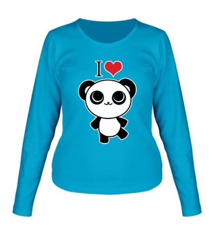 Женский лонгслив Я люблю панд