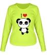 Женский лонгслив «Я люблю панд» - Фото 1