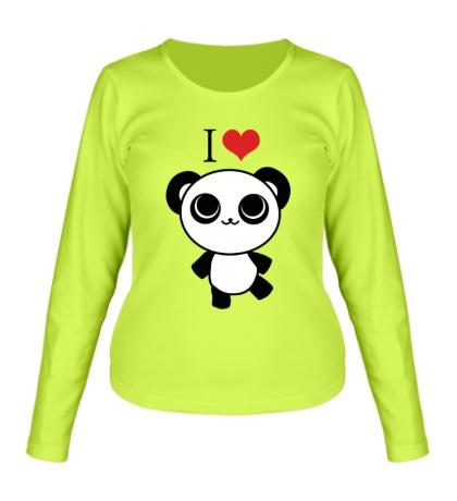 Женский лонгслив «Я люблю панд»