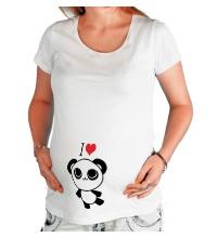 Футболка для беременной Я люблю панд