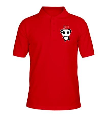 Рубашка поло Я люблю панд