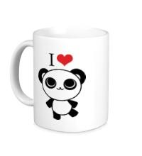 Керамическая кружка Я люблю панд