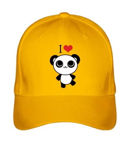 Бейсболка Я люблю панд