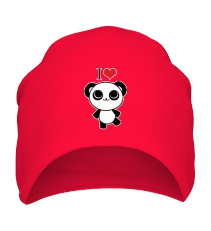 Шапка Я люблю панд