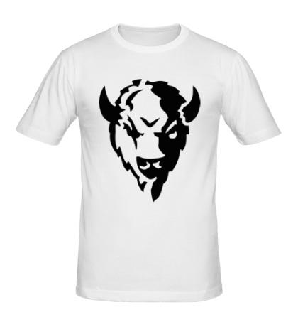 Мужская футболка Голова зубра
