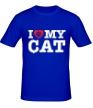 Мужская футболка «I love my Cat» - Фото 1