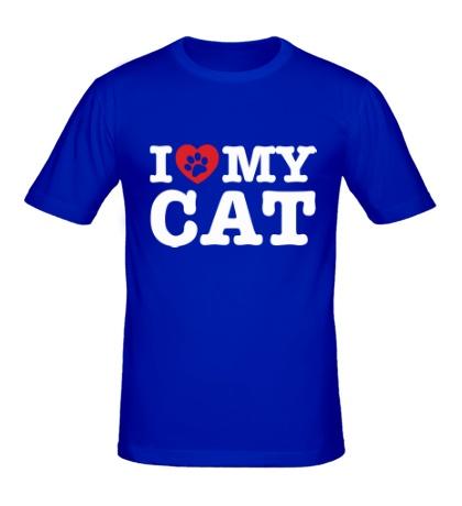 Мужская футболка I love my Cat