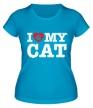 Женская футболка «I love my Cat» - Фото 1