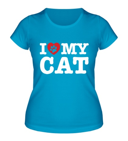 Женская футболка I love my Cat