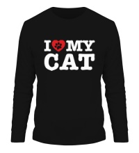 Мужской лонгслив I love my Cat