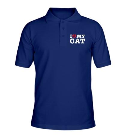 Рубашка поло I love my Cat