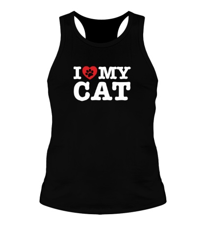 Мужская борцовка I love my Cat
