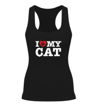 Женская борцовка I love my Cat