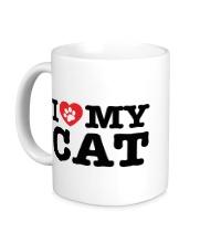 Керамическая кружка I love my Cat
