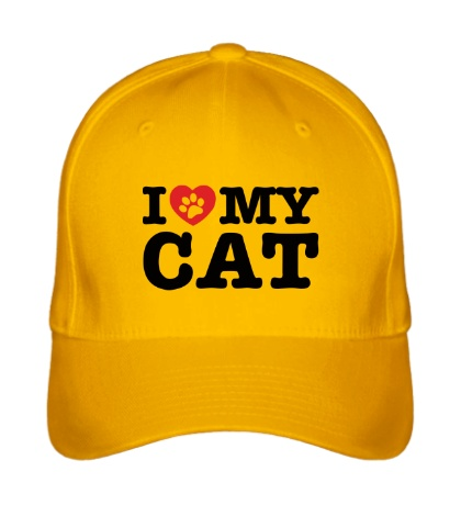 Бейсболка «I love my Cat»
