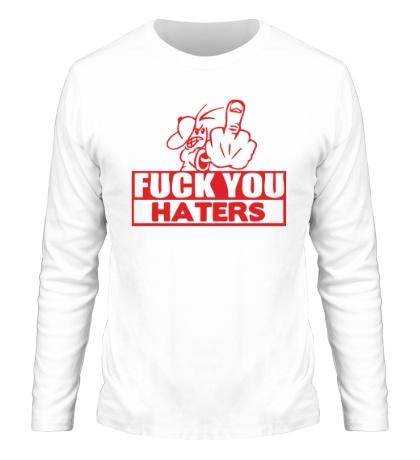 Мужской лонгслив «Fuck you haters»