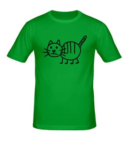 Мужская футболка Рисунок кота