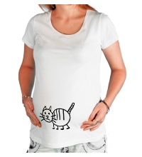 Футболка для беременной Рисунок кота