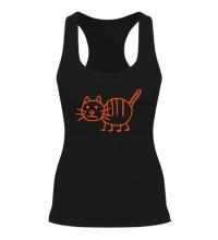 Женская борцовка Рисунок кота