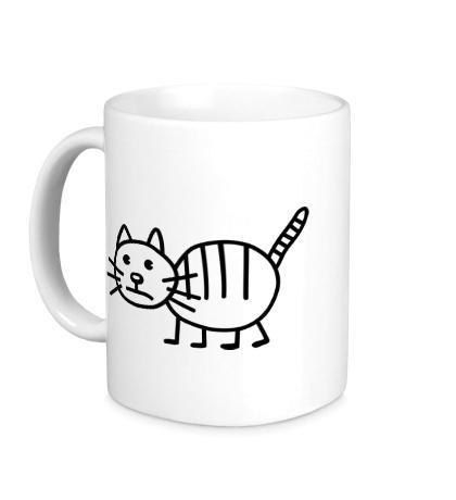 Керамическая кружка Рисунок кота