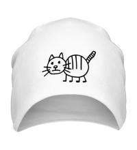 Шапка Рисунок кота