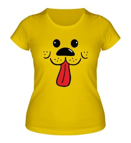 Женская футболка Мордочка песика