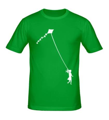 Мужская футболка «Девочка с воздушным змеем»