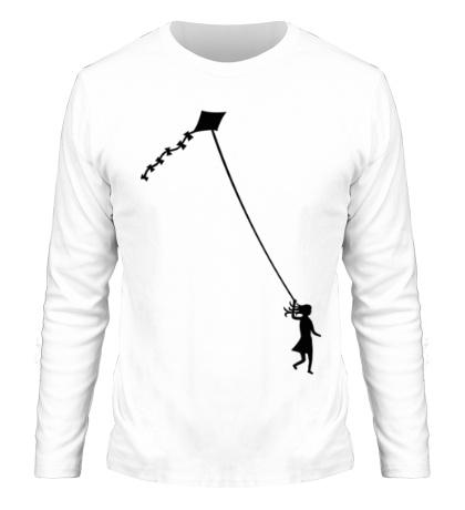 Мужской лонгслив Девочка с воздушным змеем