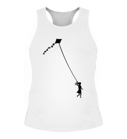 Мужская борцовка Девочка с воздушным змеем