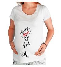 Футболка для беременной Скажи шерсти нет!