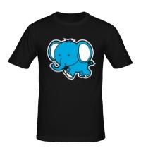 Мужская футболка Голубой слоник