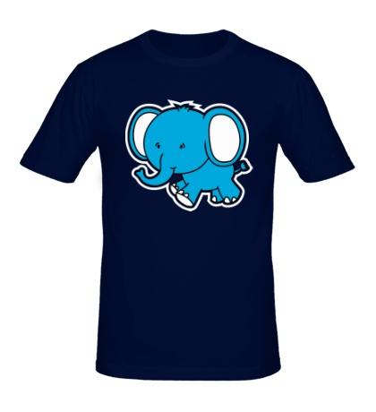 Мужская футболка «Голубой слоник»