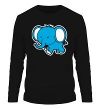 Мужской лонгслив Голубой слоник