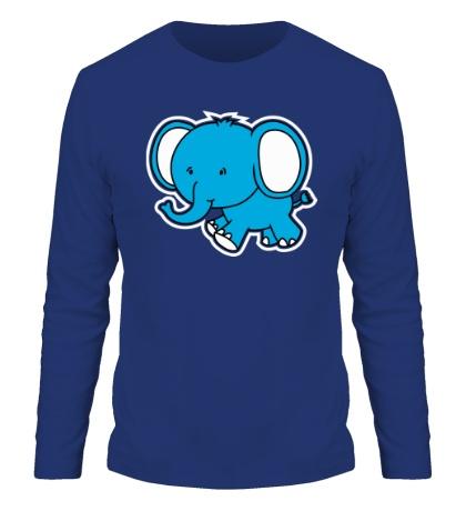 Мужской лонгслив «Голубой слоник»