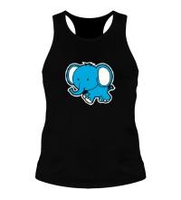Мужская борцовка Голубой слоник