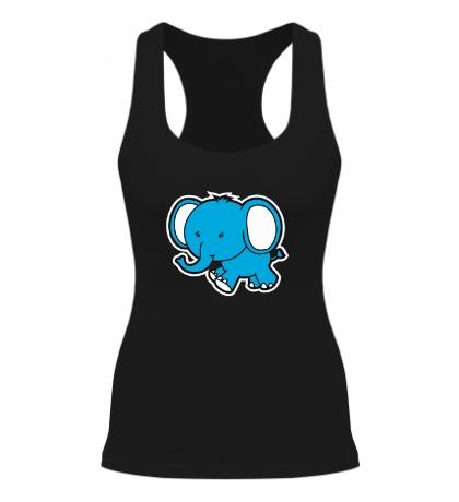 Женская борцовка Голубой слоник
