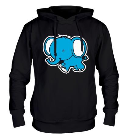 Толстовка с капюшоном «Голубой слоник»