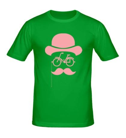 Мужская футболка Велосипедный хипстер