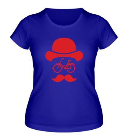 Женская футболка Велосипедный хипстер