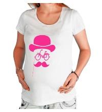 Футболка для беременной Велосипедный хипстер