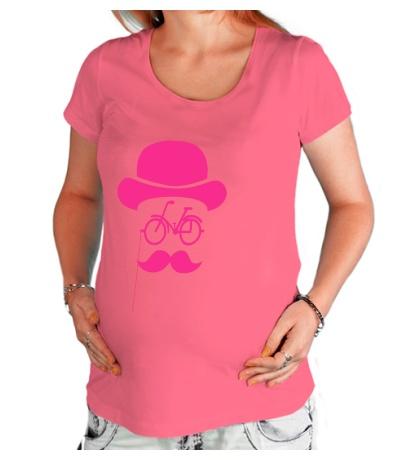 Футболка для беременной «Велосипедный хипстер»
